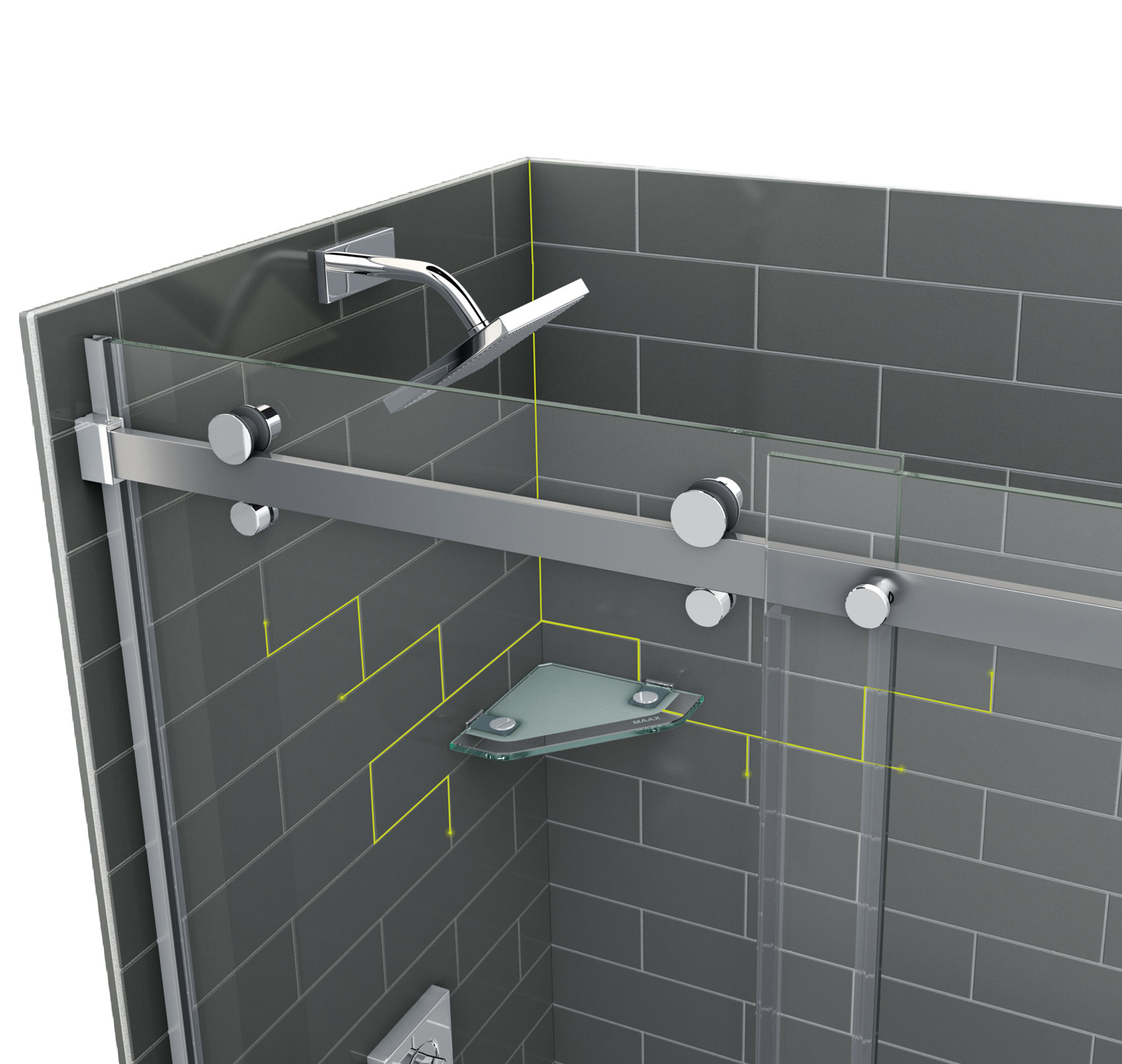 Revolutionary Shower - Bathroom Remodel - Look Like Tiles | by MAAX