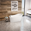 White Miles Bathtub on Decorative Background