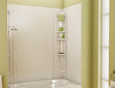 Alcove Tub Shower Green Background