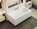 Wall-Mounted ModulR bathtub with decor