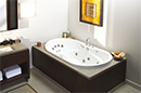 White Oval Recessed Bathtub