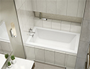 White Alcove Rectangular Bathtub