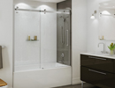 Tub shower door halo