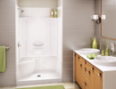 Alcove Shower with integrated Seat